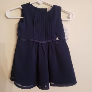 Carter's 3 Month Navy Blue Dress with flow…
